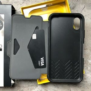 iPhone X or XS Otterbox strada leather wallet case